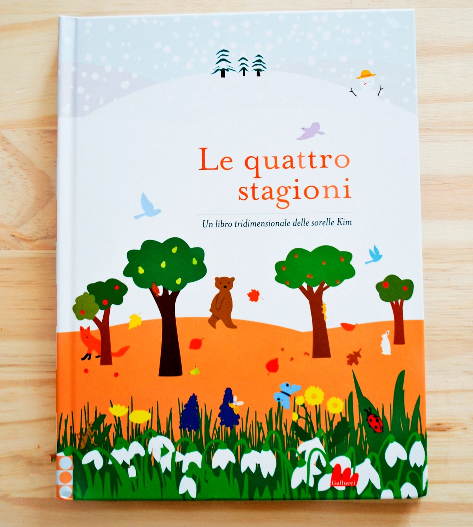 LE QUATTRO STAGIONI. Un libro tridimensionale di Inkyeong & Sunkyung Kim, GALLUCCI EDITORE