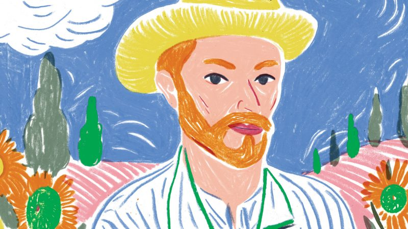 VINCENT VAN GOGH ritratto d'artista di Lucy Brownridge ed Edith Carron, IDEEALI