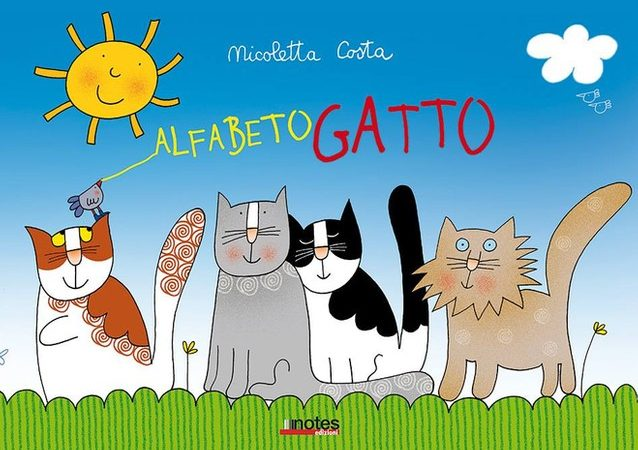 ALFABETO GATTO di Nicoletta Costa, NOTES EDIZIONI