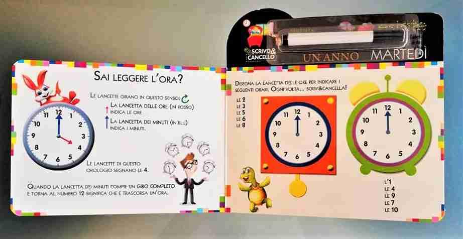 il tempo e l'ora imparare a leggere l'orologio