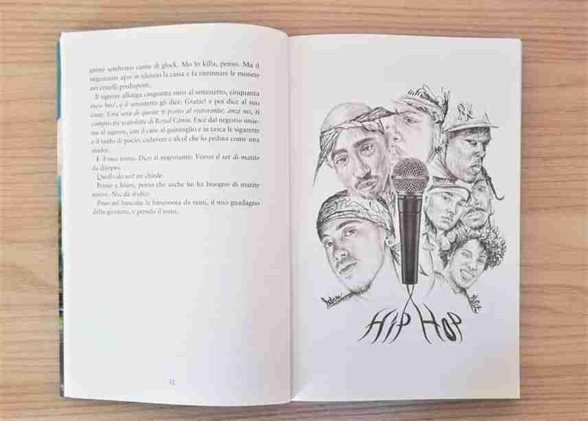 DISEGNAVO PAPPAGALLI VERDI ALLA FERMATA DEL METRÒ illustrazione interna