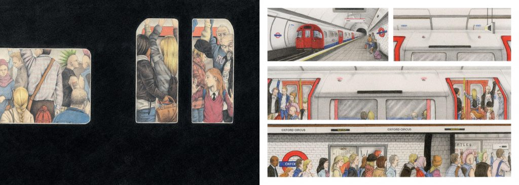 In the Tube silent book