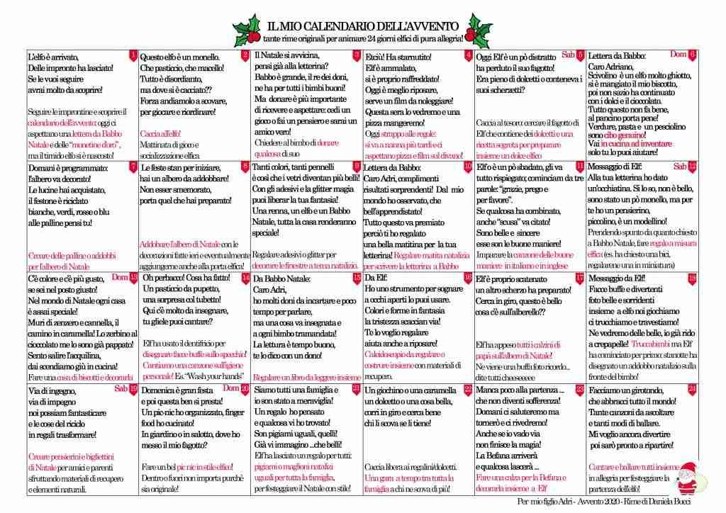 calendario dell'avvento m 5