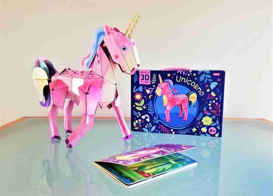 unicorno 3D libro