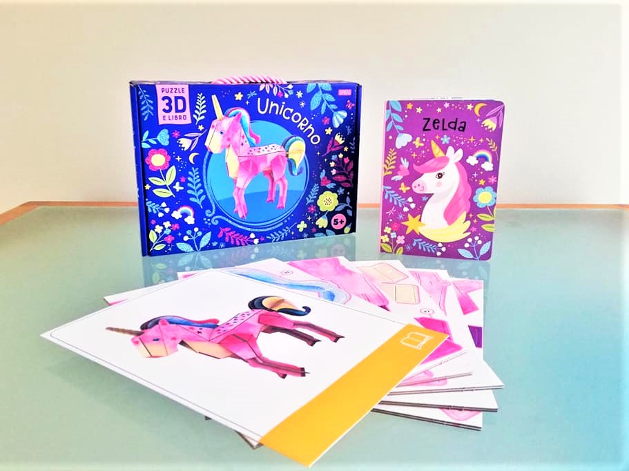 unicorno 3D puzzle