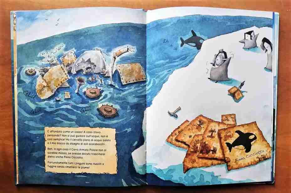 Il pinguino inventore illustrazioni