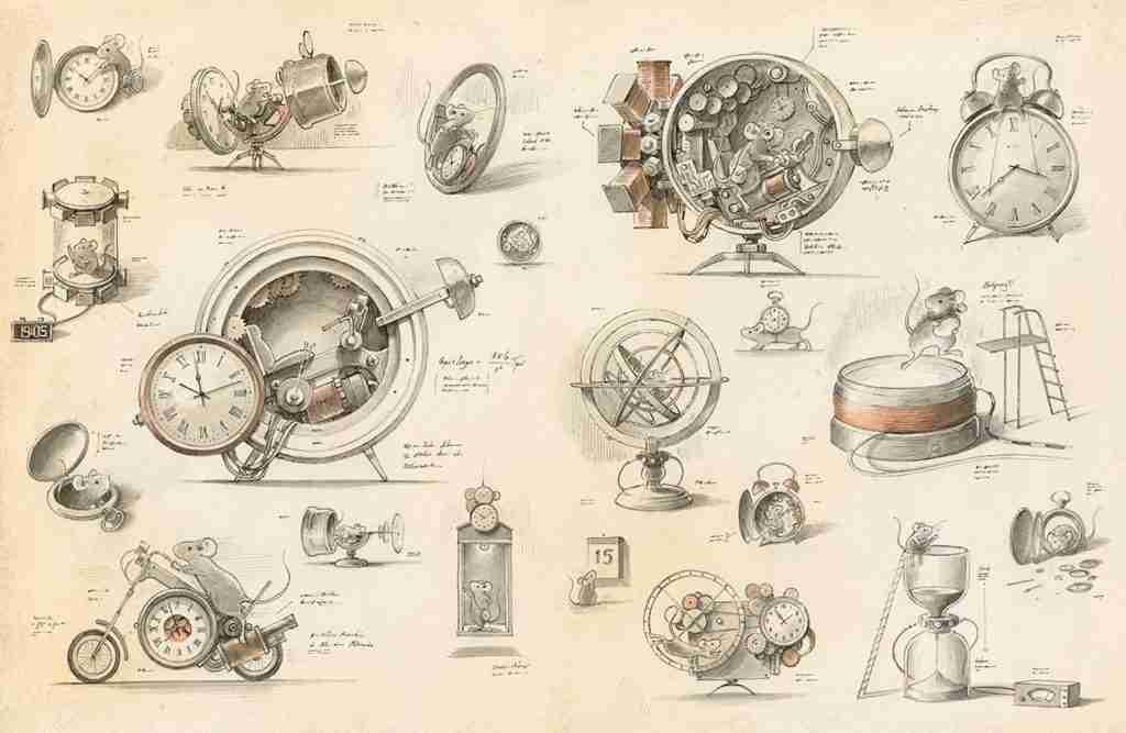EINSTEIN Il fantastico viaggio di un topo disegni