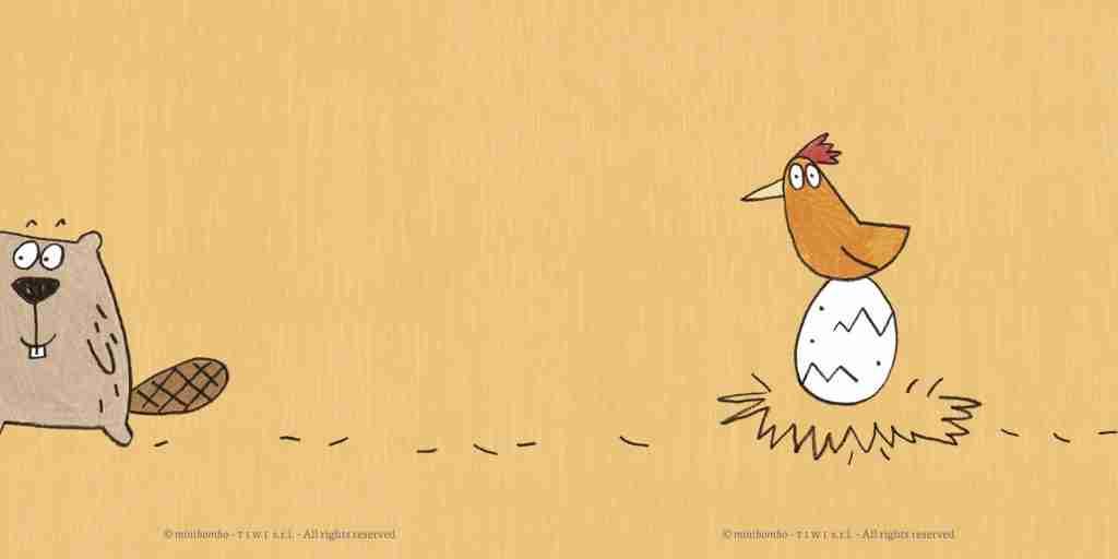 Il castoro, l'uovo e la gallina i personaggi del libro