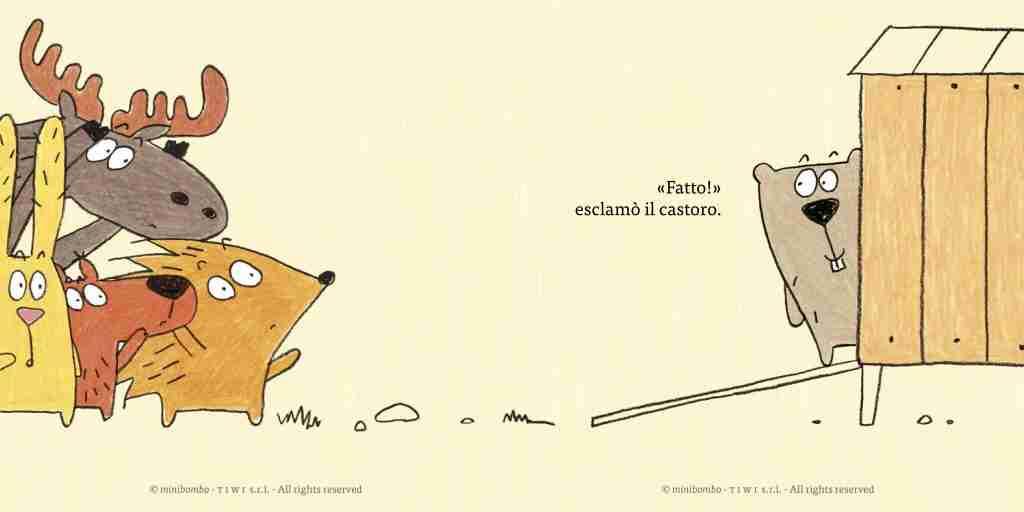 Il castoro, l'uovo e la gallina illustrazioni interne