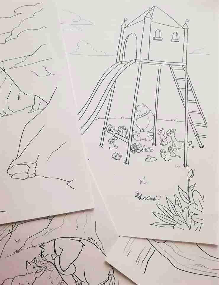 LE AVVENTURE DI BUBY E SPUNK disegni libro
