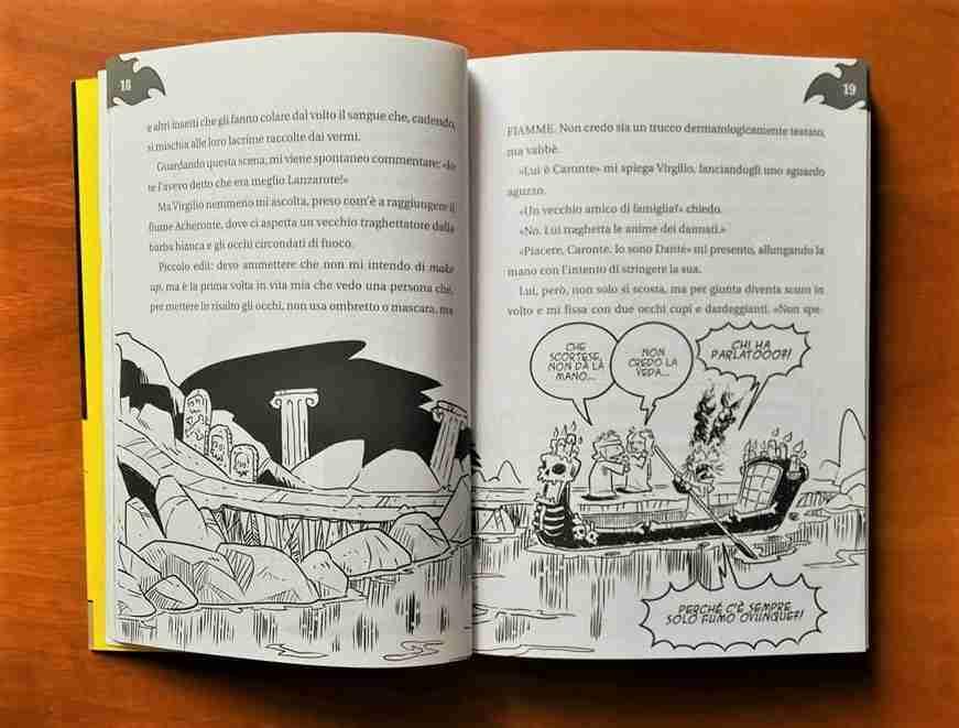 L'INFERNO SPIEGATO MALE di Francesco Muzzopappa illustrazioni interne